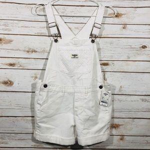 Oshkosh B'gosh girls white size 12 overalls